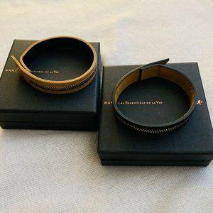 Brand New Want Les Essentiels Leather Bracelets
